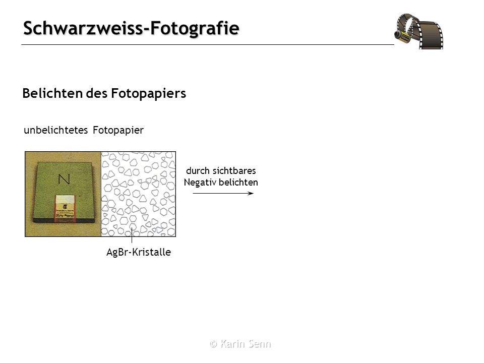 Belichten des Fotopapiers