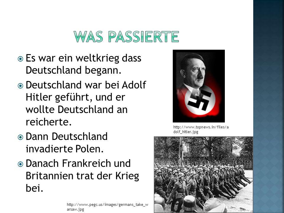 Was Passierte Es war ein weltkrieg dass Deutschland begann.