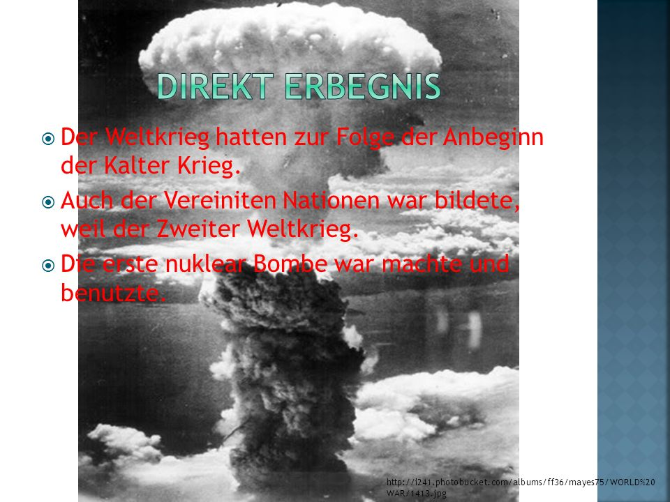 Direkt Erbegnis Der Weltkrieg hatten zur Folge der Anbeginn der Kalter Krieg.