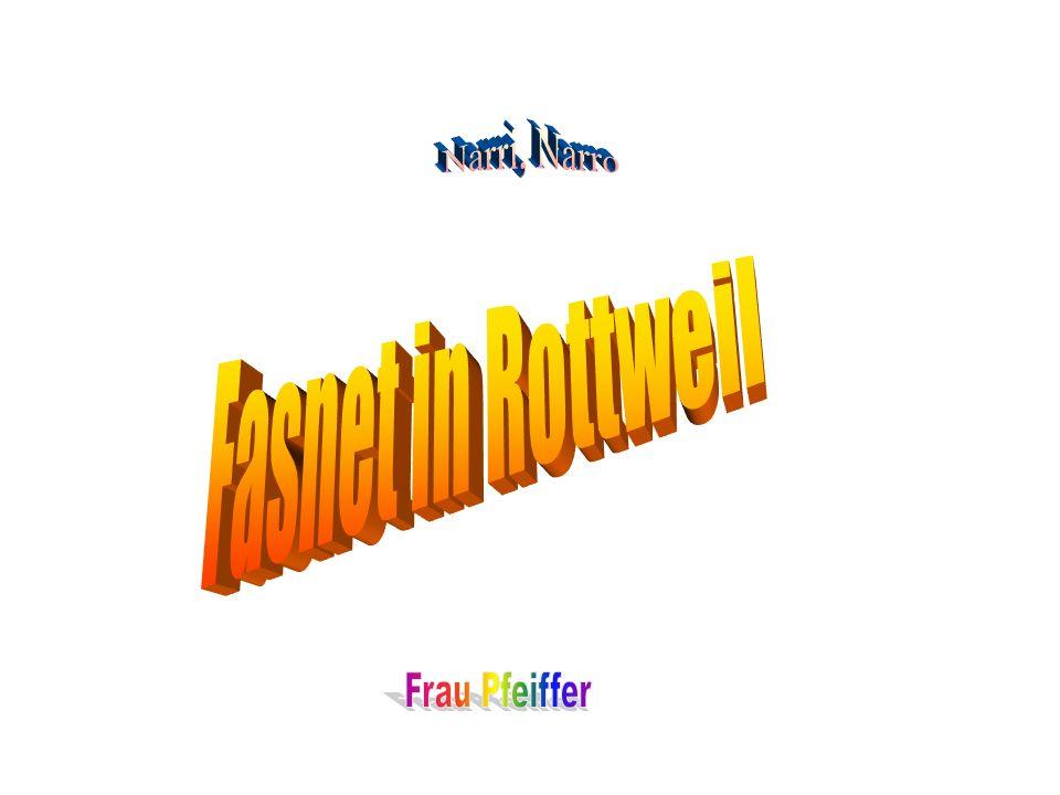 Narri, Narro Fasnet in Rottweil Frau Pfeiffer