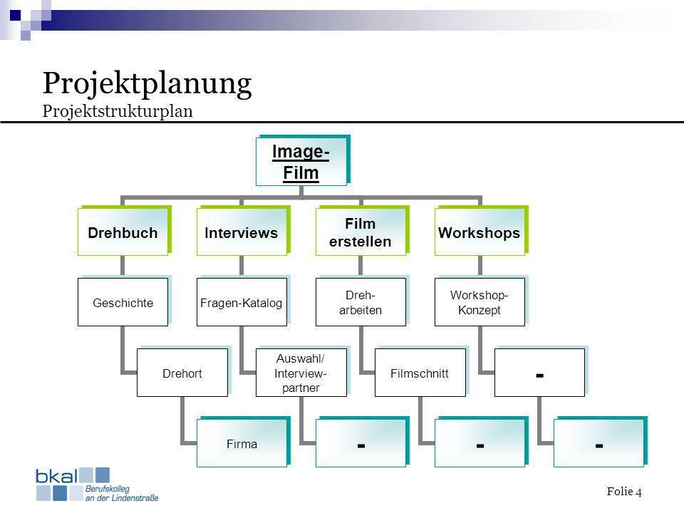 Projektplanung Projektstrukturplan