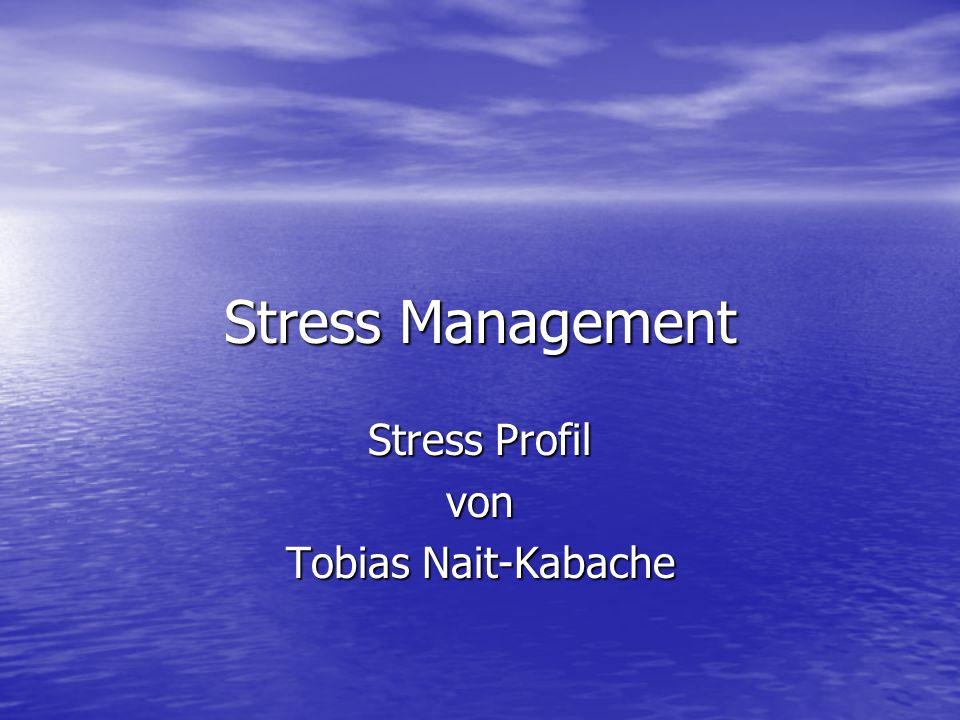 Stress Profil von Tobias Nait-Kabache