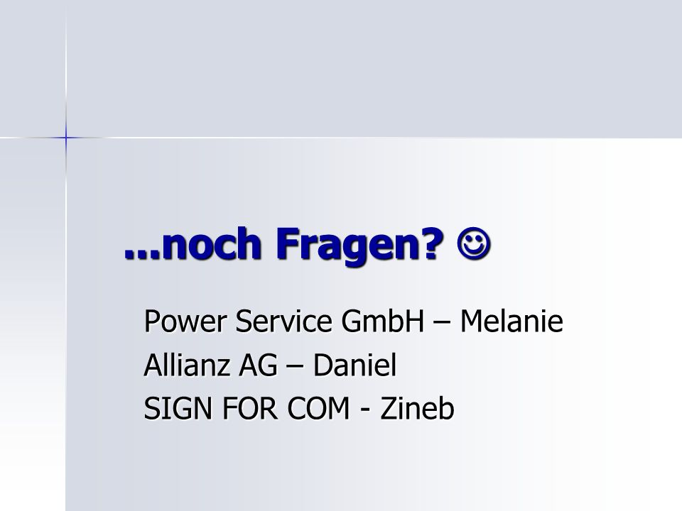Power Service GmbH – Melanie Allianz AG – Daniel SIGN FOR COM - Zineb