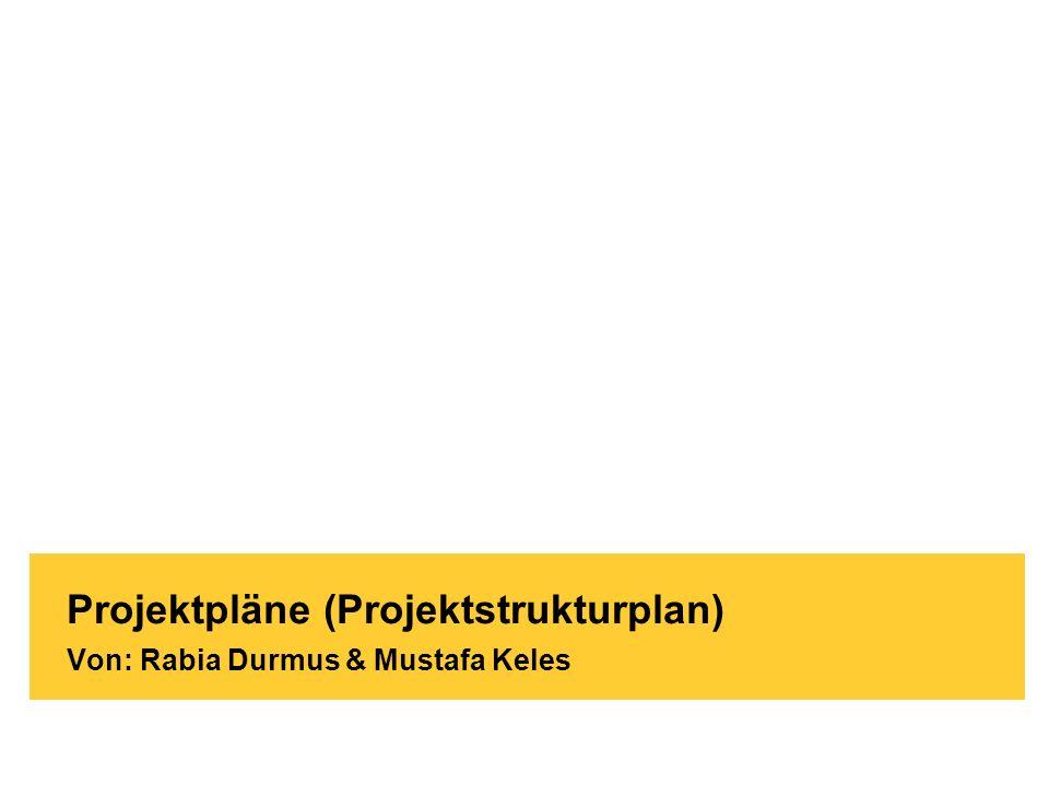 Projektpläne (Projektstrukturplan) Von: Rabia Durmus & Mustafa Keles