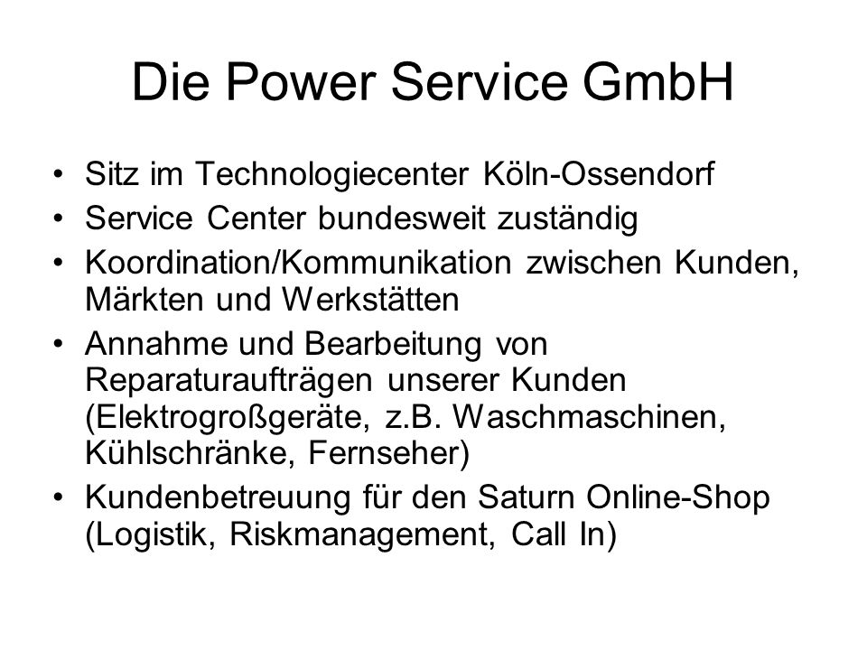 Die Power Service GmbH Sitz im Technologiecenter Köln-Ossendorf
