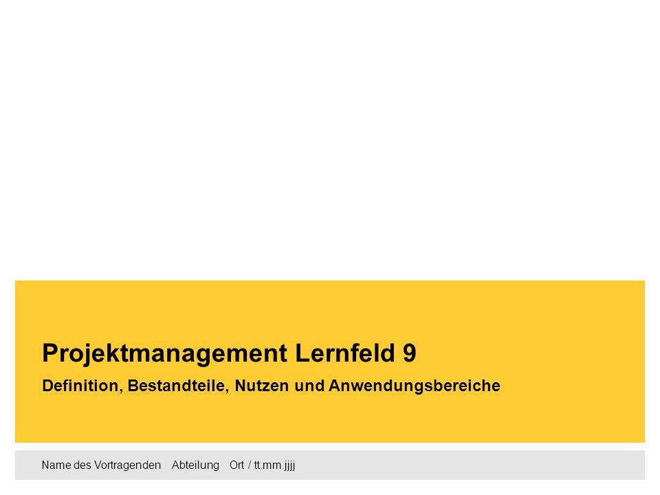 Projektmanagement Lernfeld 9