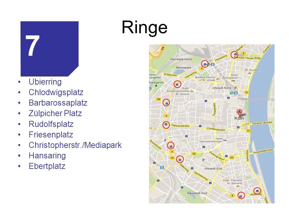 7 Ringe Ubierring Chlodwigsplatz Barbarossaplatz Zülpicher Platz