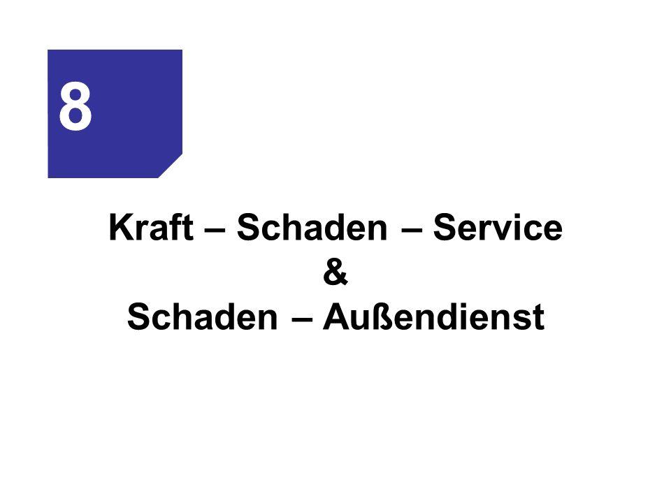 Kraft – Schaden – Service & Schaden – Außendienst