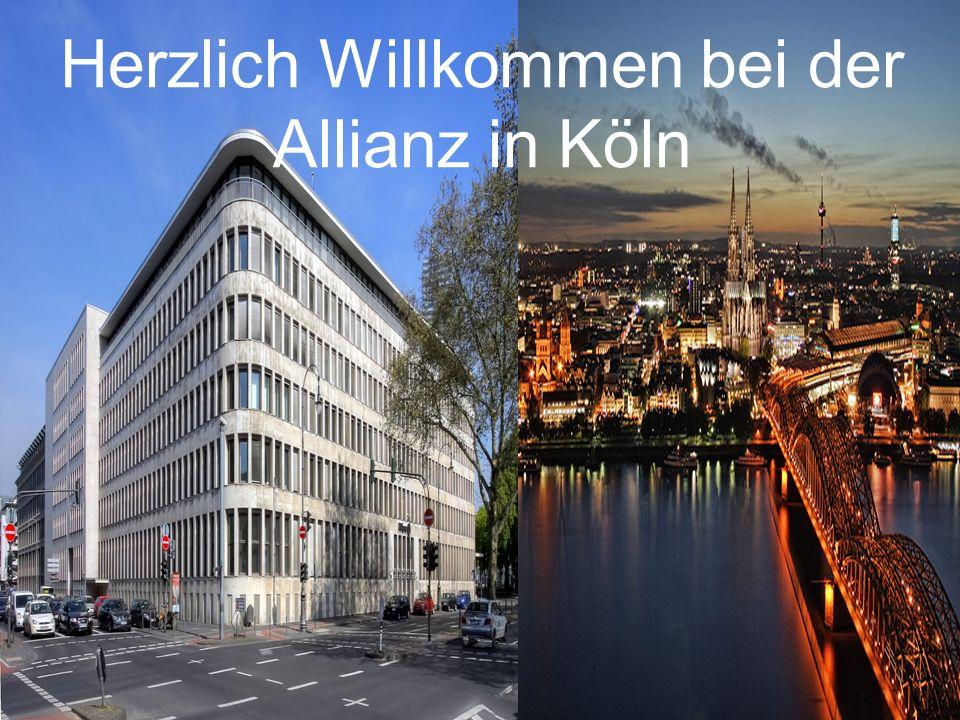 Herzlich Willkommen bei der Allianz in Köln