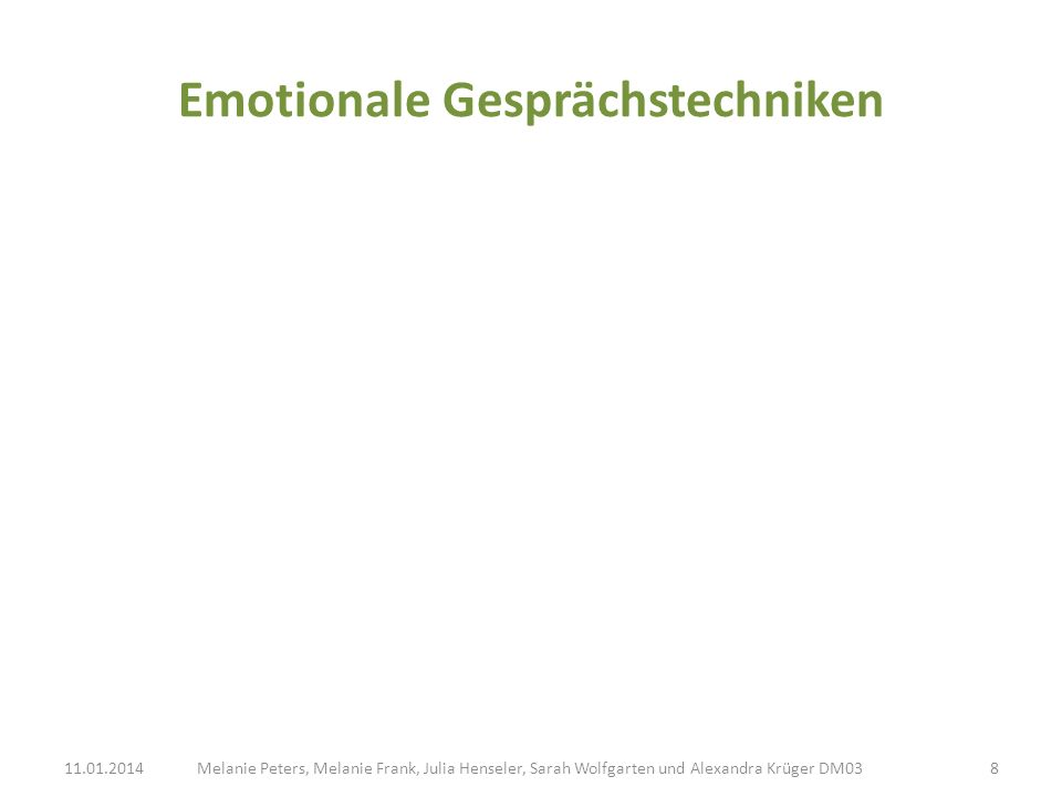 Emotionale Gesprächstechniken