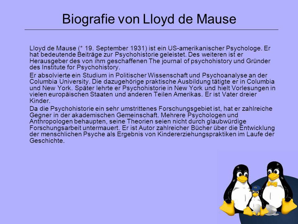 Biografie von Lloyd de Mause