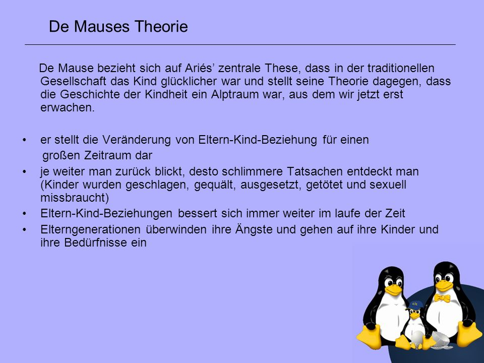 De Mauses Theorie