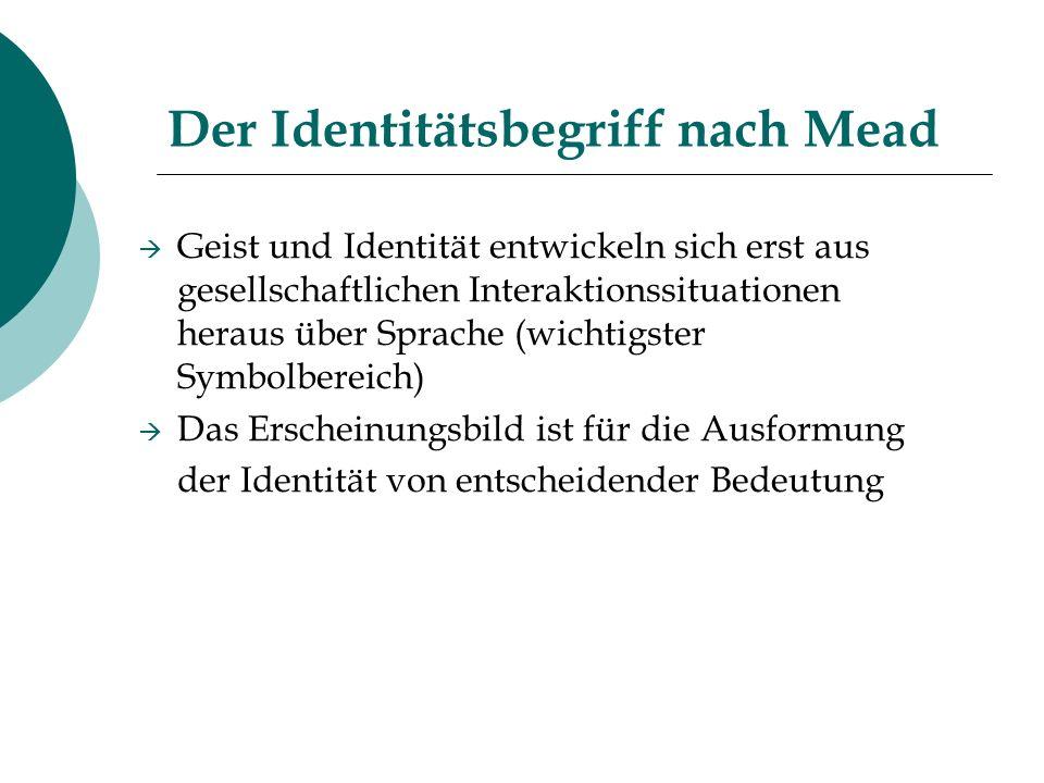 Der Identitätsbegriff nach Mead