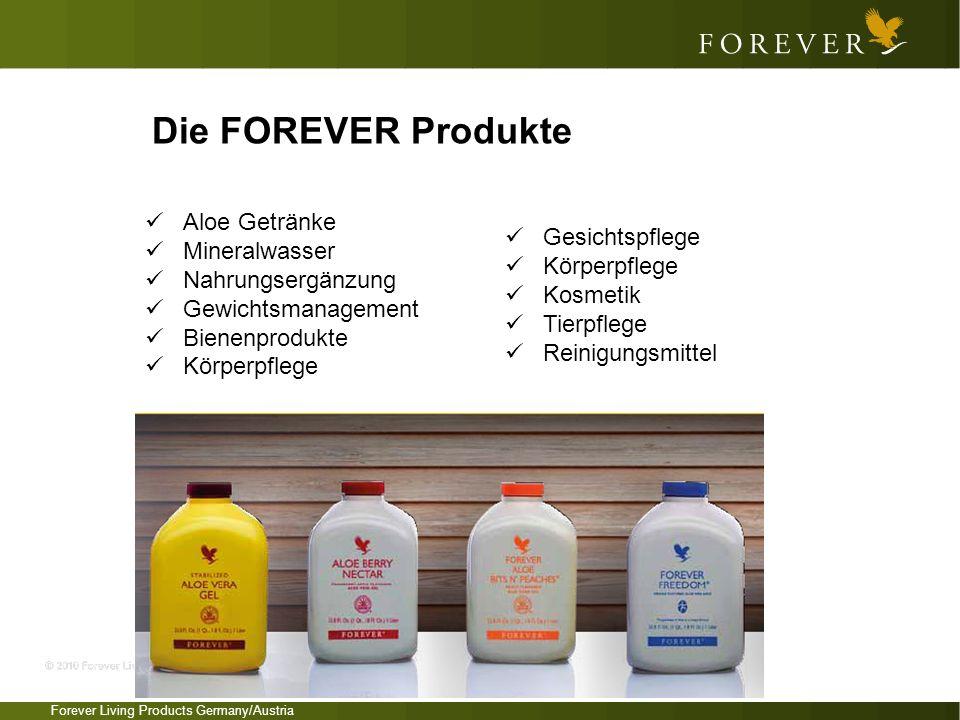 Die FOREVER Produkte Aloe Getränke Mineralwasser Nahrungsergänzung