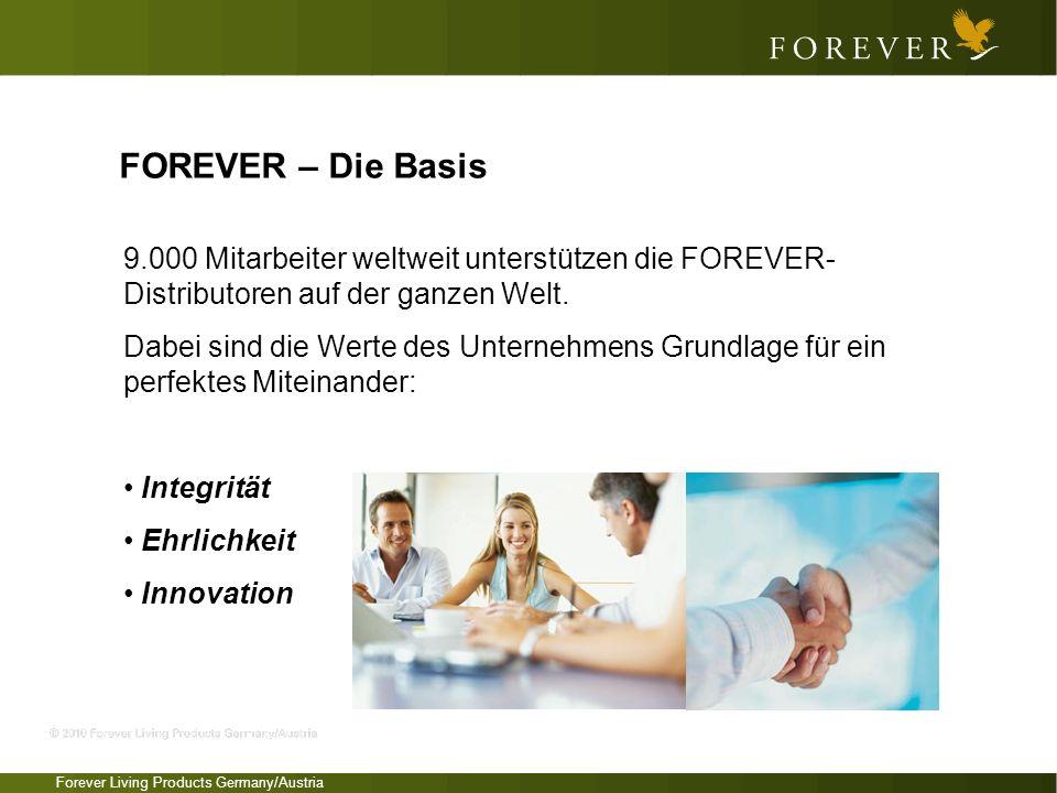 FOREVER – Die Basis 9.000 Mitarbeiter weltweit unterstützen die FOREVER-Distributoren auf der ganzen Welt.