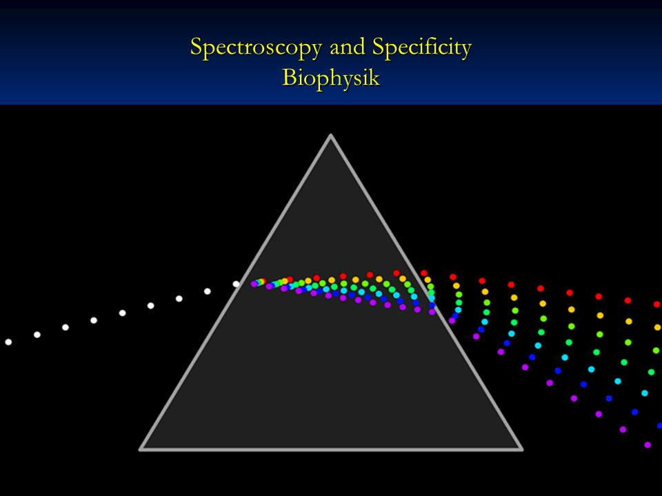 Spectroscopy and Specificity Biophysik