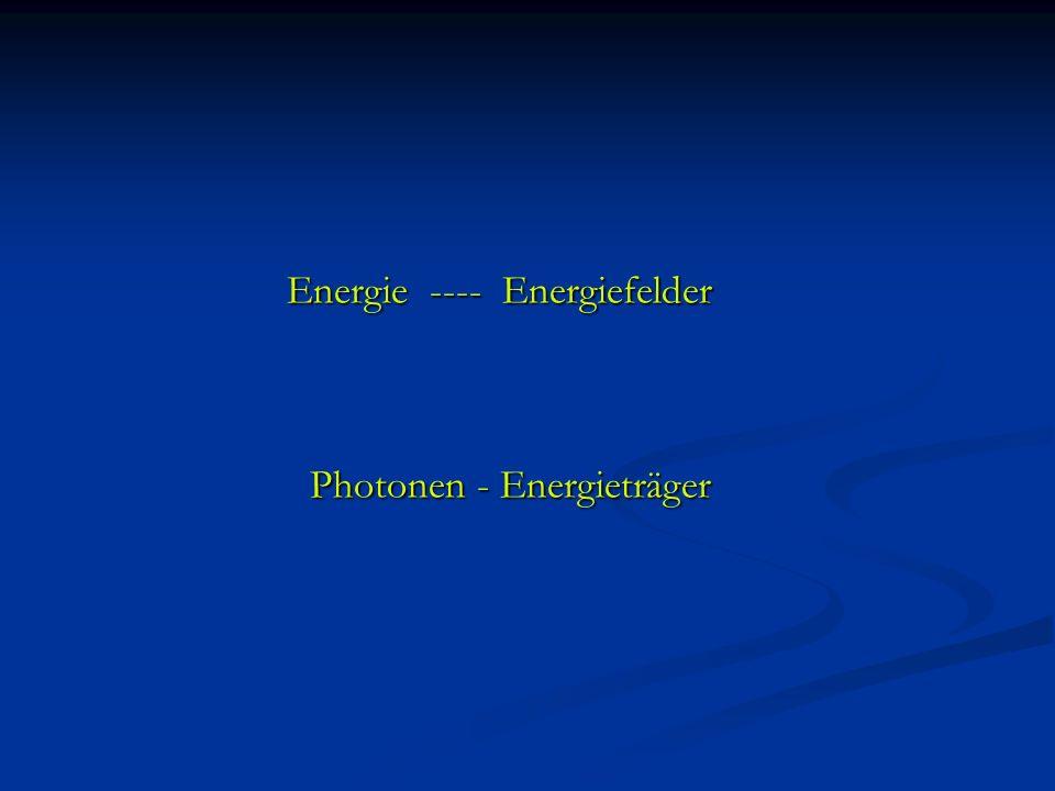 Energie ---- Energiefelder