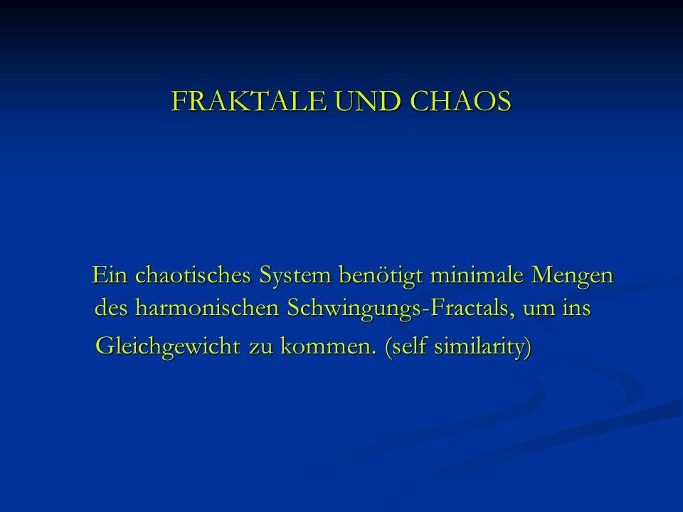 FRAKTALE UND CHAOSEin chaotisches System benötigt minimale Mengen des harmonischen Schwingungs-Fractals, um ins.
