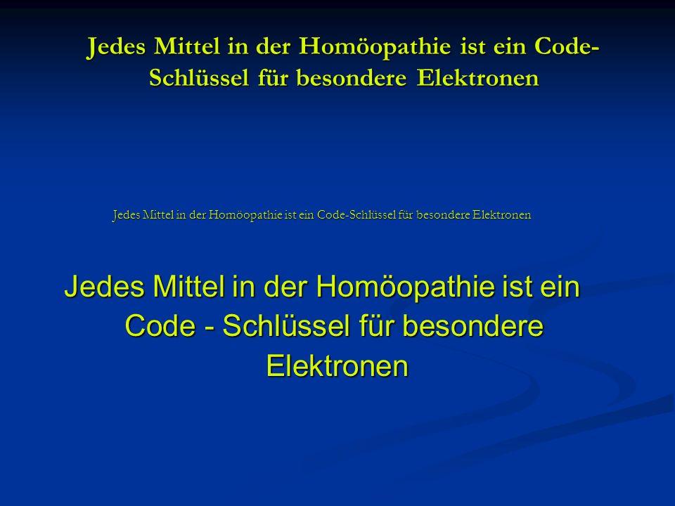 Code - Schlüssel für besondere Elektronen