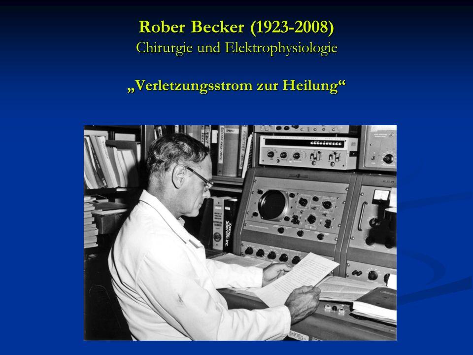 """Rober Becker (1923-2008) Chirurgie und Elektrophysiologie """"Verletzungsstrom zur Heilung"""