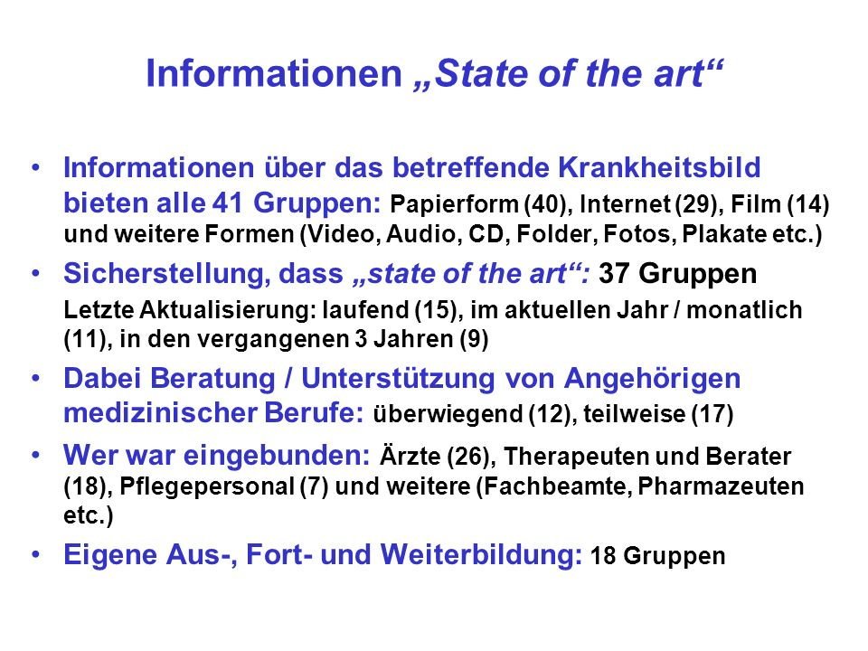 "Informationen ""State of the art"