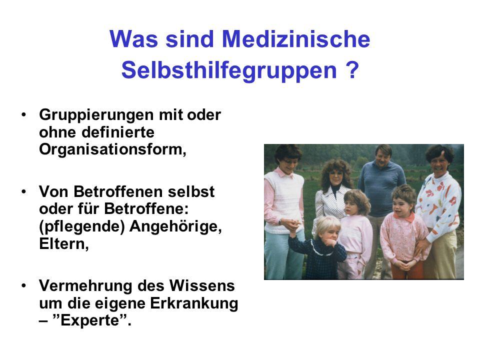 Was sind Medizinische Selbsthilfegruppen