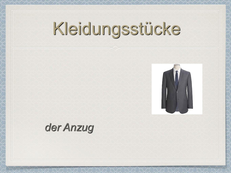 Kleidungsstücke der Anzug