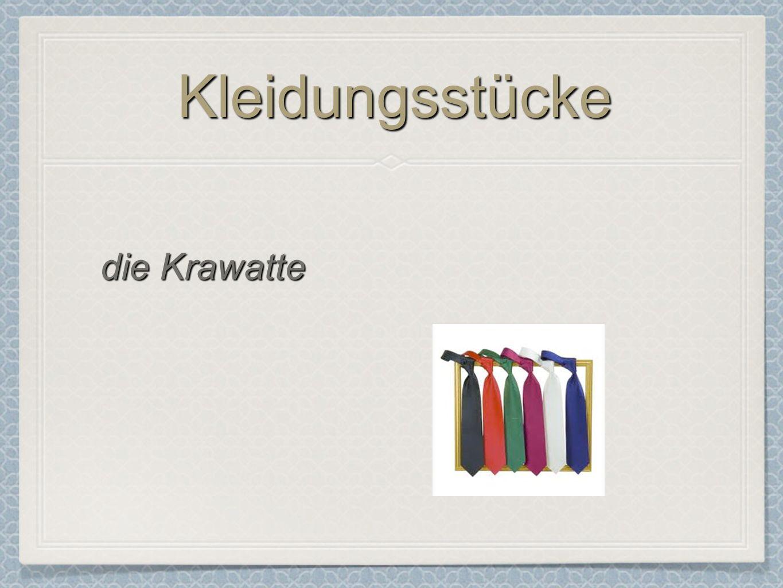Kleidungsstücke die Krawatte
