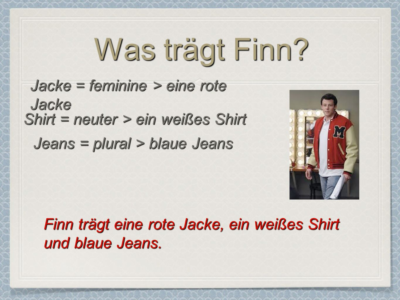 Jeans = plural > blaue Jeans