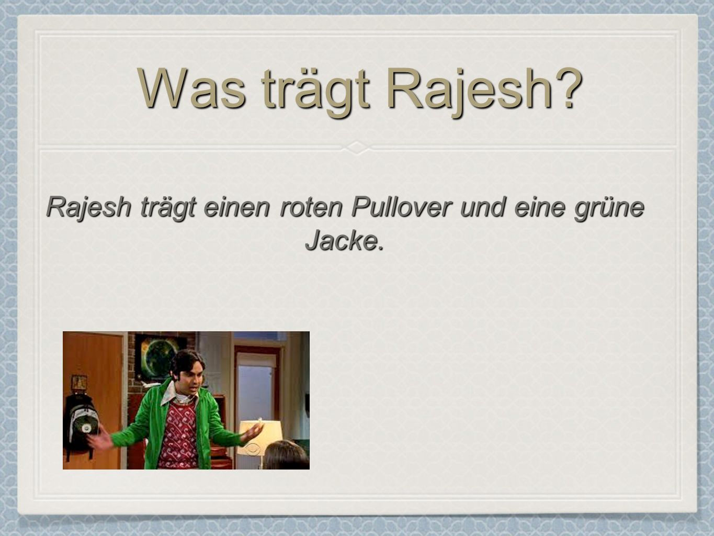 Rajesh trägt einen roten Pullover und eine grüne