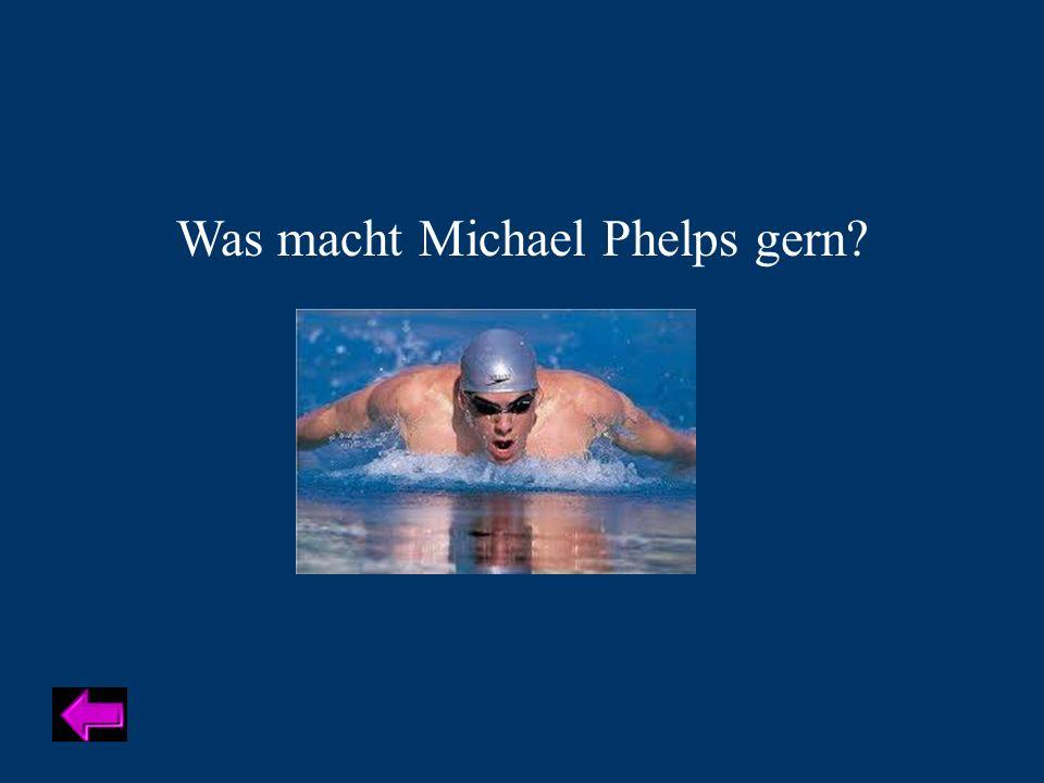 Was macht Michael Phelps gern