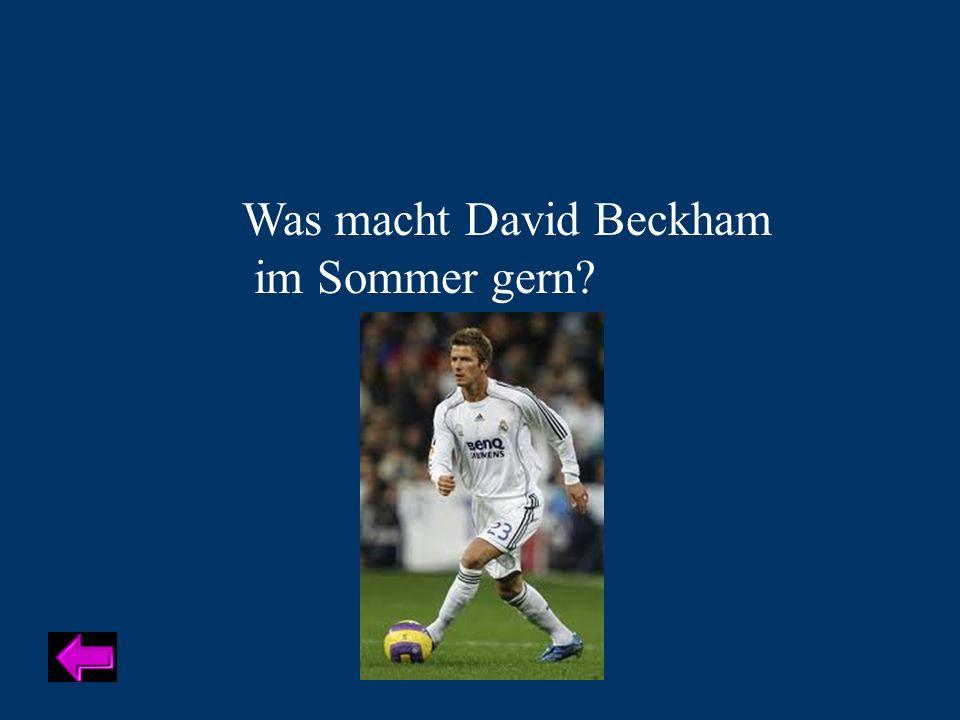Was macht David Beckham