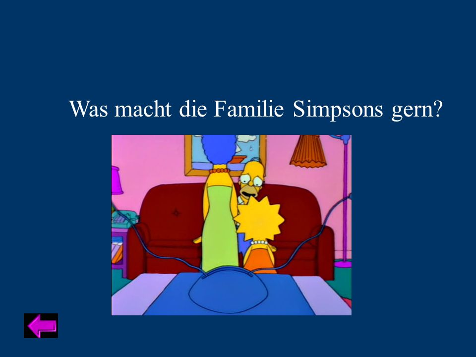 Was macht die Familie Simpsons gern