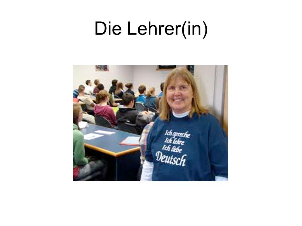 Die Lehrer(in)