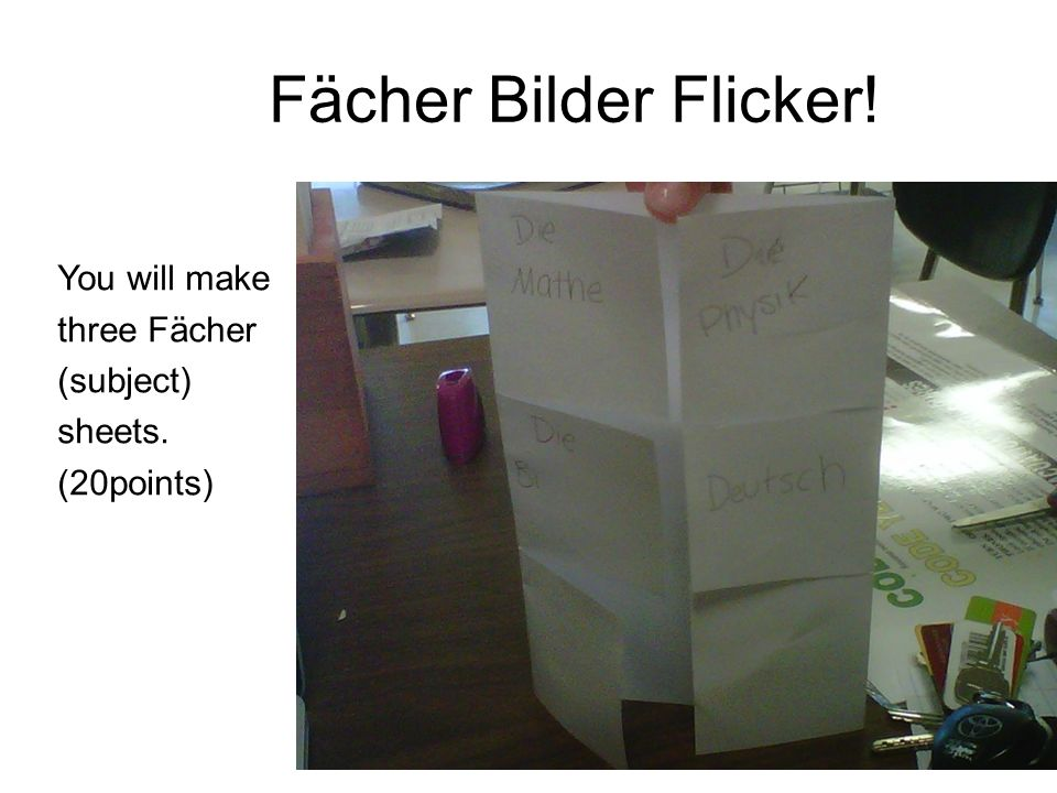 Fächer Bilder Flicker! Click to edit Master text styles You will make