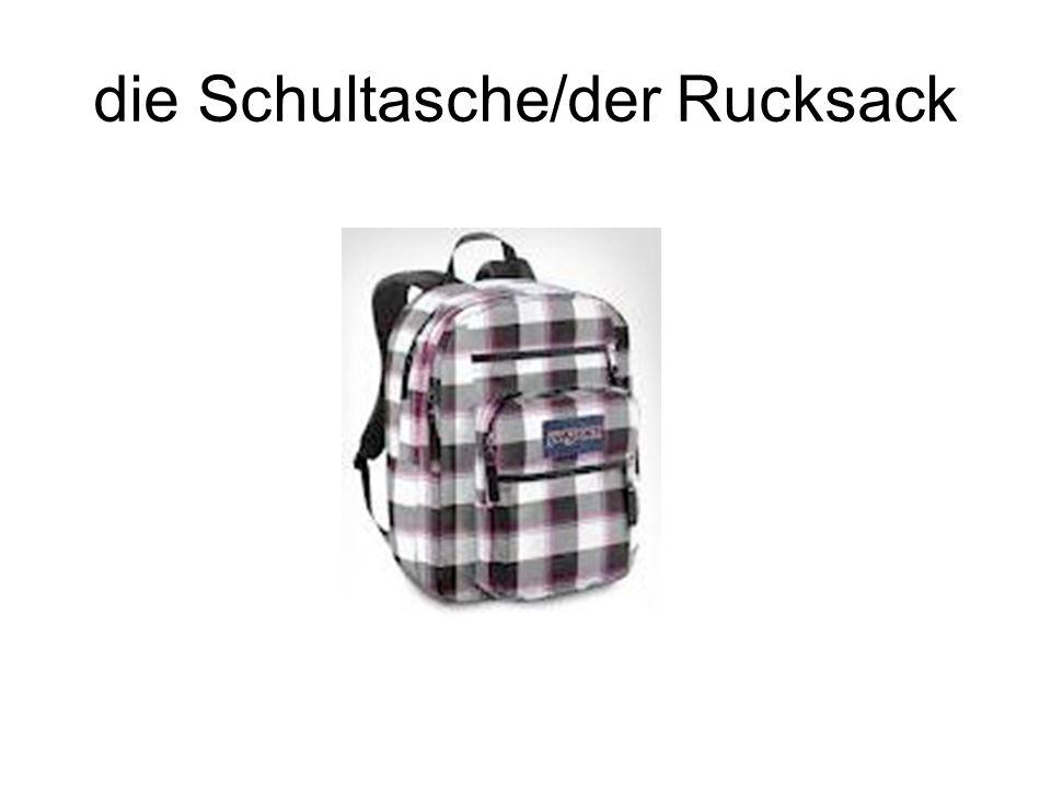 die Schultasche/der Rucksack