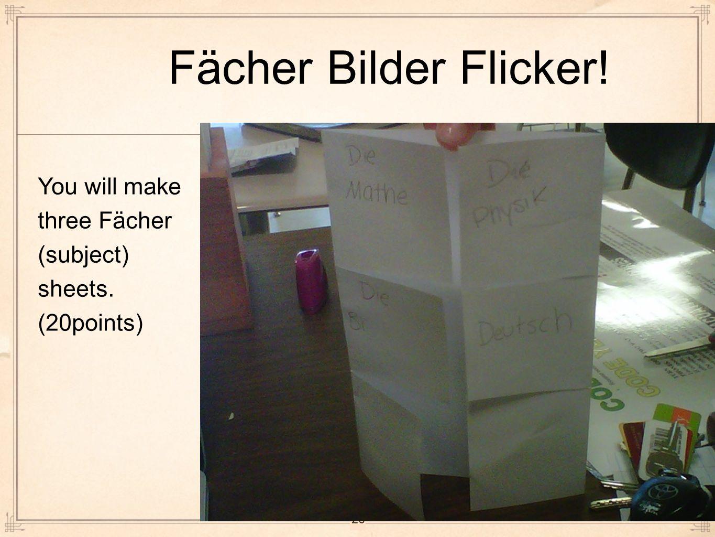 Fächer Bilder Flicker! You will make Click to edit Master text styles