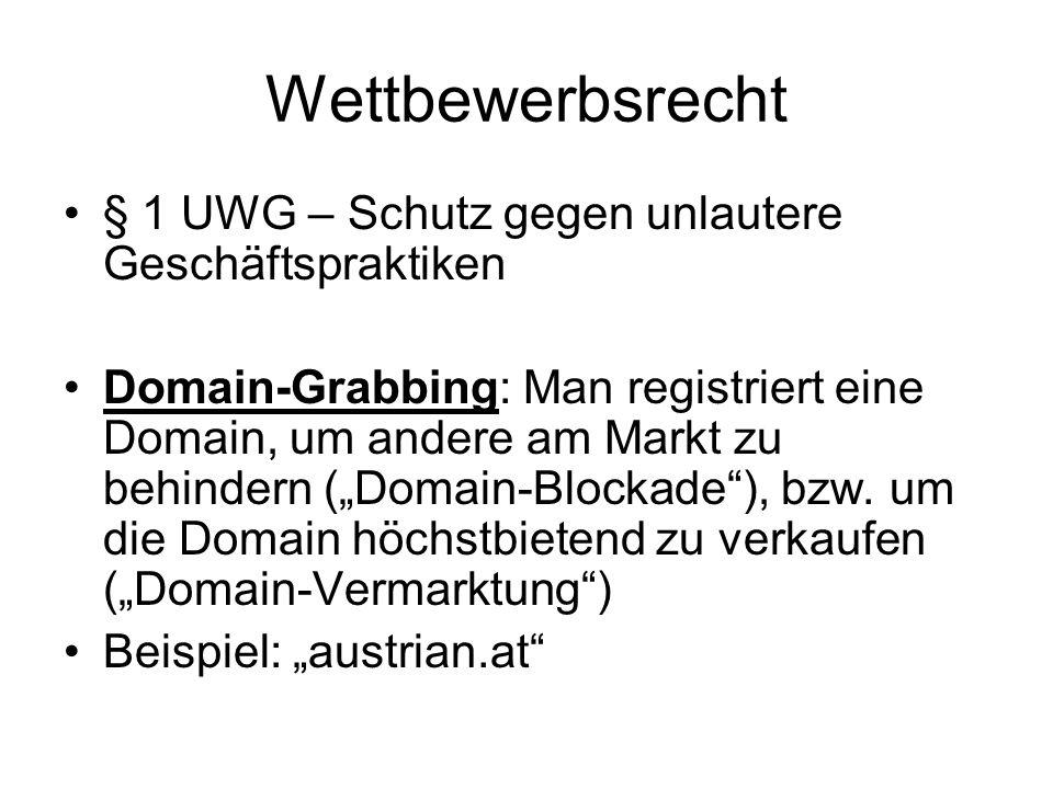 Wettbewerbsrecht § 1 UWG – Schutz gegen unlautere Geschäftspraktiken