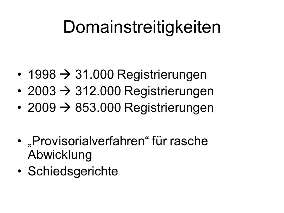 Domainstreitigkeiten
