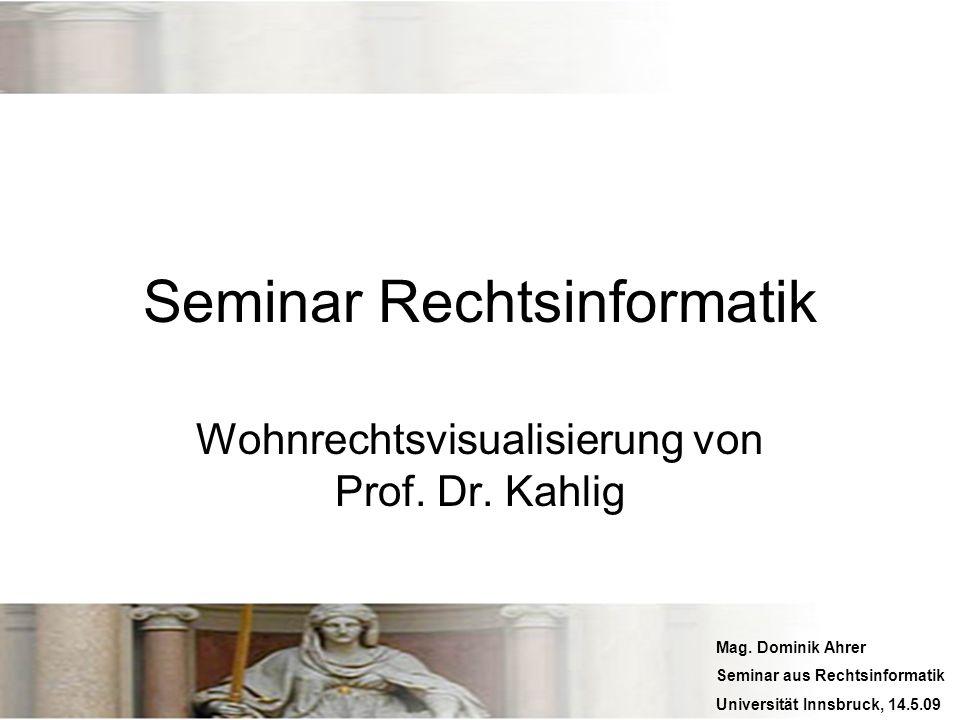 Seminar Rechtsinformatik