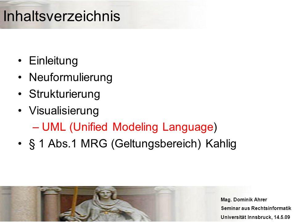 Inhaltsverzeichnis Einleitung Neuformulierung Strukturierung
