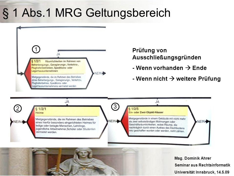 § 1 Abs.1 MRG Geltungsbereich