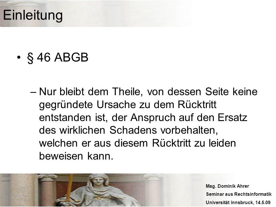 Einleitung § 46 ABGB.