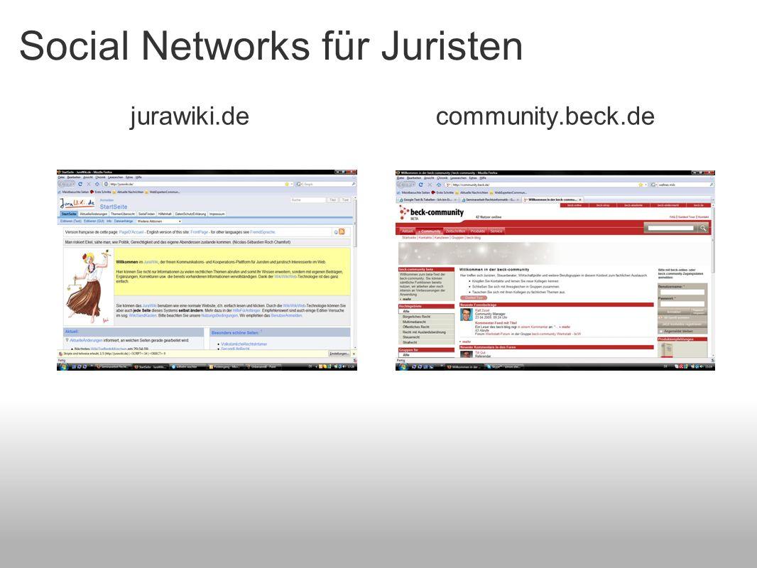 Social Networks für Juristen
