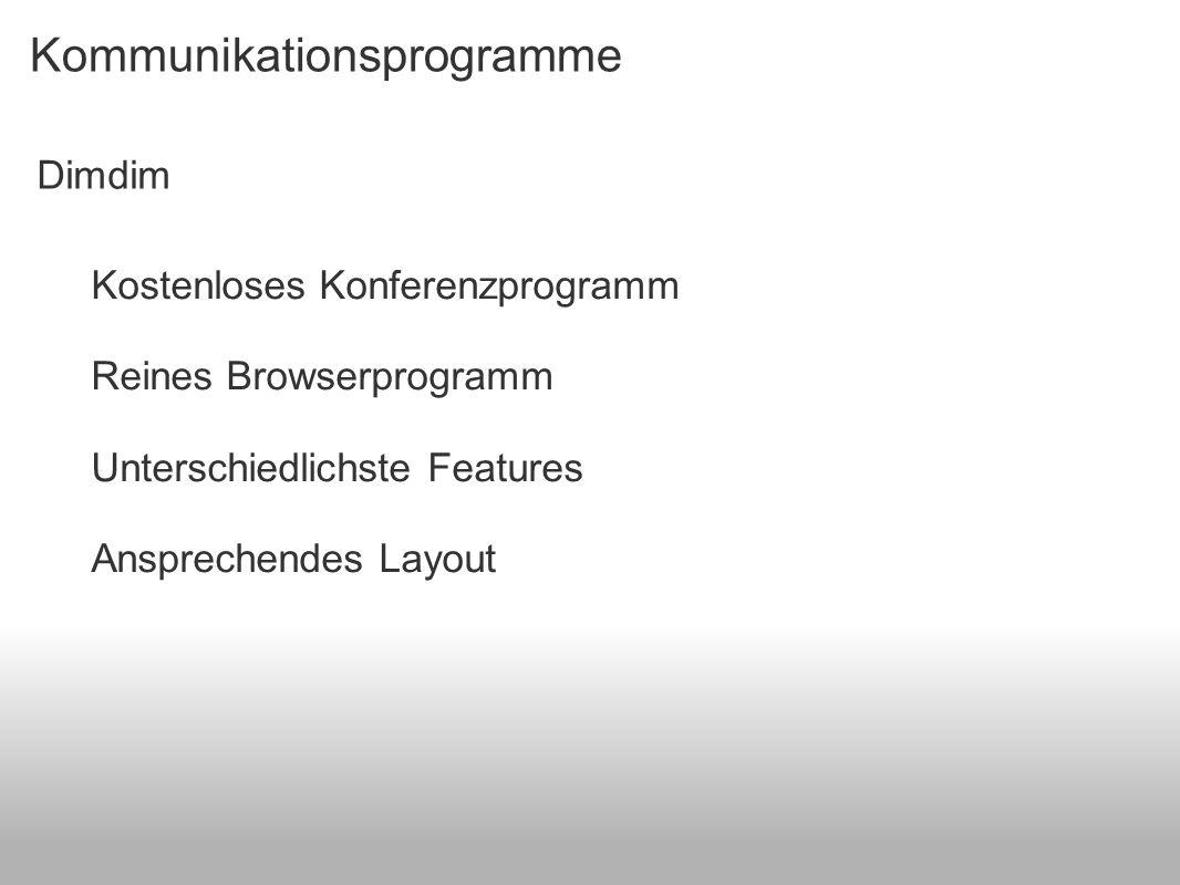 Kommunikationsprogramme