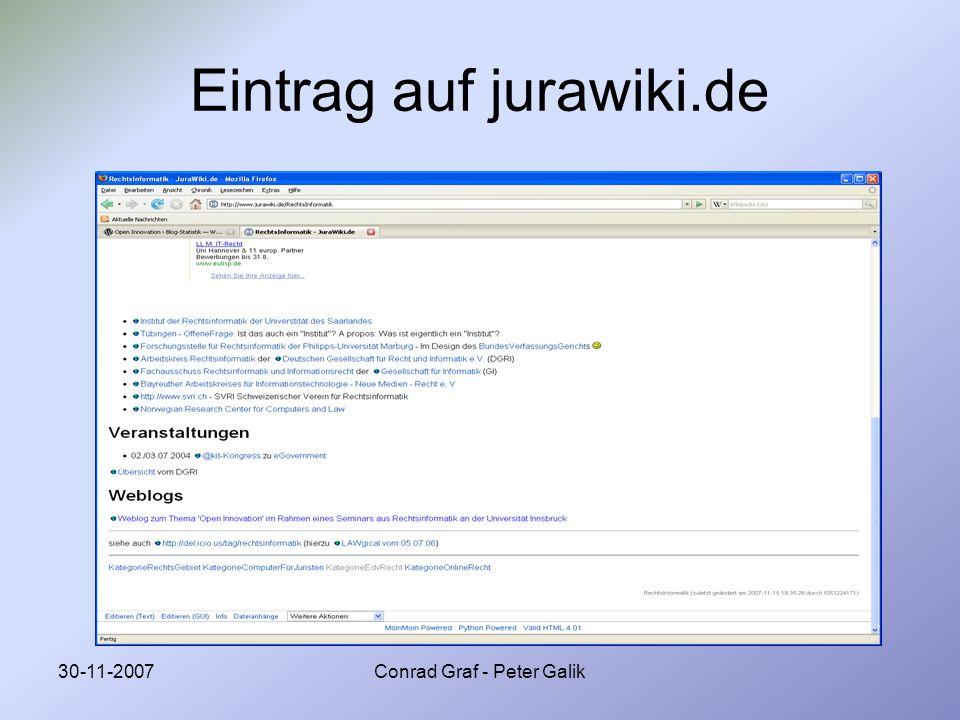 Eintrag auf jurawiki.de
