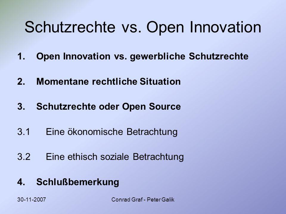 Schutzrechte vs. Open Innovation