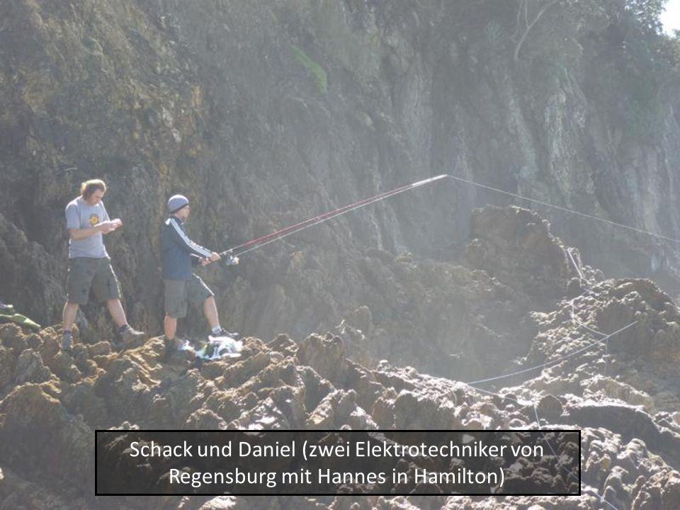 Schack und Daniel (zwei Elektrotechniker von Regensburg mit Hannes in Hamilton)