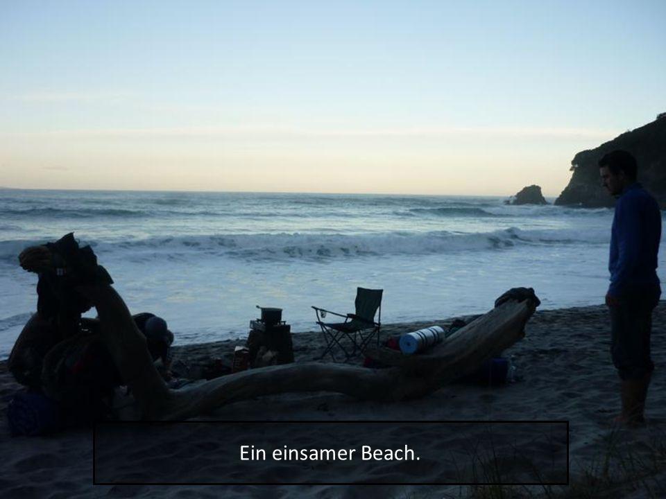 Ein einsamer Beach.