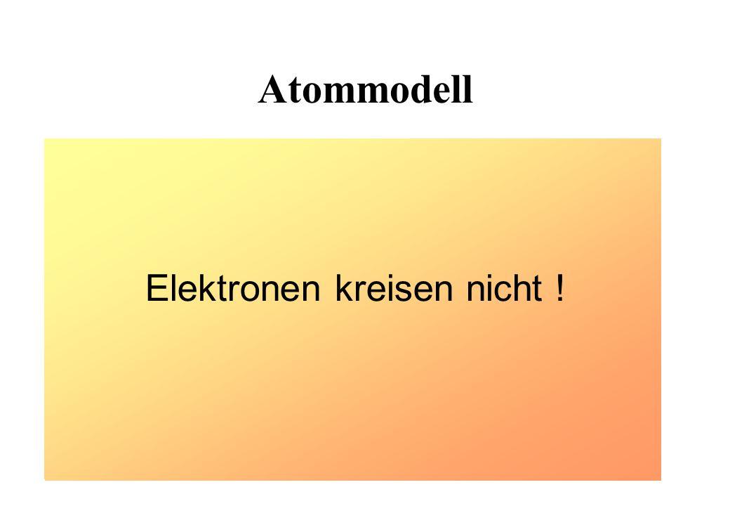 Elektronen kreisen nicht !